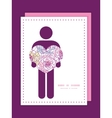 colorful line art flowers man in love silhouette