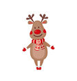 Cute Reindeer icon in flat style vector image vector image