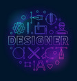 designer colored round line vector image