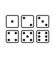 dice white vector image