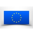 EU flag with soft shadow vector image