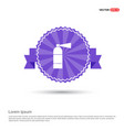 fire extinguisher icon - purple ribbon banner vector image