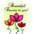 flowers greeting card wedding invitation vector image