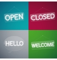 Four Neon Signs vector image