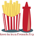 French Fry Love vector image vector image