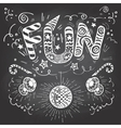 Fun hand-lettering typography on chalkboard vector image vector image