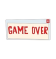 Game over icon cartoon style vector image
