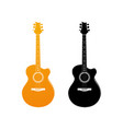 golden icon of acoustic guitar vector image vector image
