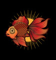 goldfish tattoo flash vector image vector image