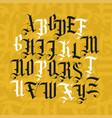 gothic font set vintage alphabet letters