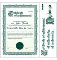 Green certificate Template Vertical vector image vector image