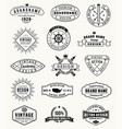 grunge vintage logos and insignas vector image vector image