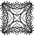 Hand drawing zentangle mandala element vector image vector image