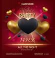 happy valentines day party poster template design vector image vector image