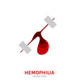 hemophlia disease icon vector image