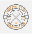 house construction company identity with crossed vector image
