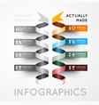 Infographic options with color ribbons vector image vector image