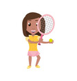 isolated women playing tennis vector image vector image