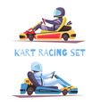 karting design concept vector image