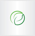 leaf green eco symbol logo icon circle vector image vector image
