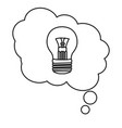 light bulb idea cartoon vector image vector image