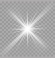 light rays flash radiance effect star ray vector image vector image