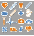 medical stickers vector image vector image
