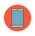 mobile phone flat line icon vector image