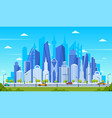 modern city concept office buildings with street vector image vector image