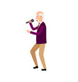 music performer male holding microphone isolated vector image vector image
