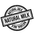 Natural milk rubber stamp vector image