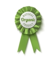 Natural organic product Realisticgreen label vector image vector image