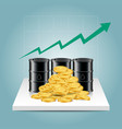 oil industry concept oil price growing up graph vector image vector image