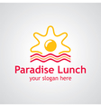 paradise lunch logo vector image vector image