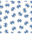 pattern with blue crabs vector image vector image
