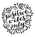 Positive vibes only vector image