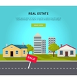 Real Estate Web Banner in Flat Design vector image vector image