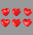 red hearts different 6 rotation vector image