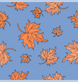 red maple leaves autumn seamless pattern vector image vector image