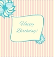 Retro style birthday card in pink and blue vector image vector image