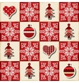 Seamless Christmas background in a patchwork style vector image vector image