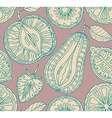 Seamless fruits pattern Abstract background with vector image