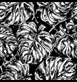 Seamless pattern with exotic leafs