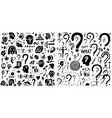 thinking questions - icon set design vector image vector image