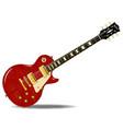 tiger top guitar vector image vector image