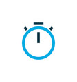 timer icon colored symbol premium quality vector image
