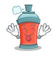 tongue our aerosol spray can character cartoon vector image