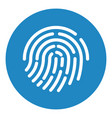 touch id fingerprint recognition vector image