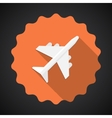 Travel Airport Airplane Flat icon background vector image