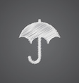umbrella sketch logo doodle icon vector image